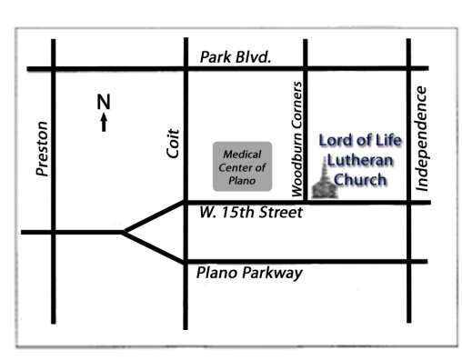 Contact Us   Lord of Life Lutheran Church   Plano